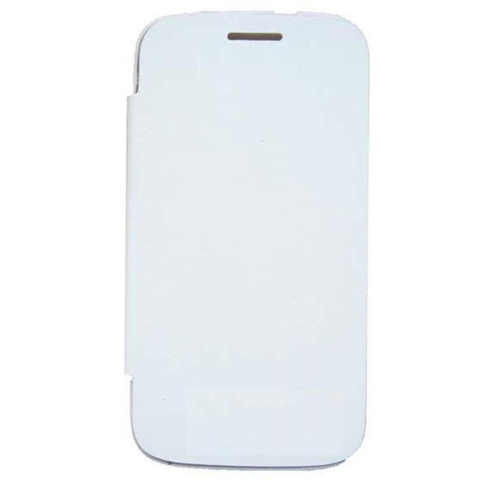 huge discount ba5f7 88807 Flip Cover for Spice Mi-506 Stellar Mettle Icon - White & Silver