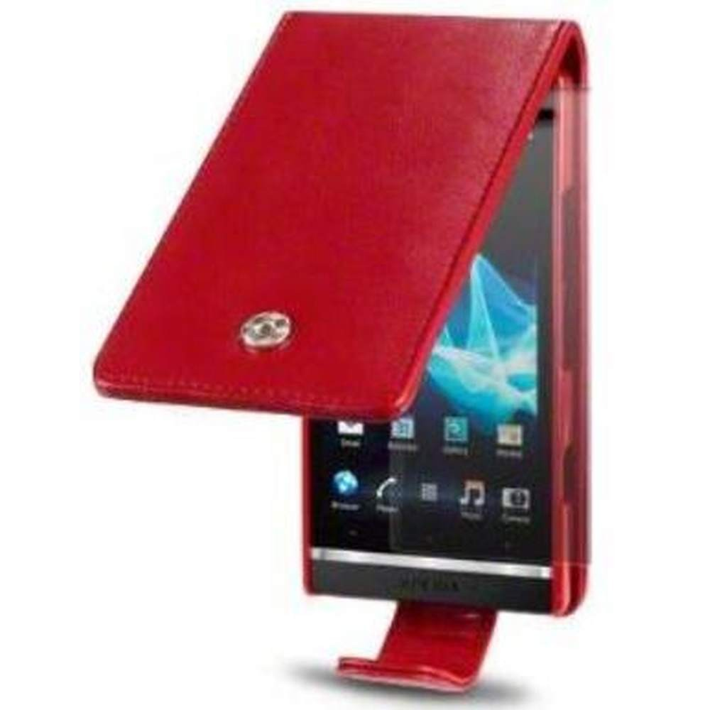 Flip Cover for Sony Xperia S LT26i - Red