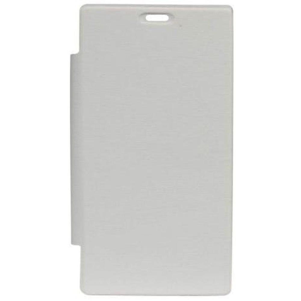 best cheap 806f1 c1de5 Flip Cover for Sony Xperia M2 D2303 - White