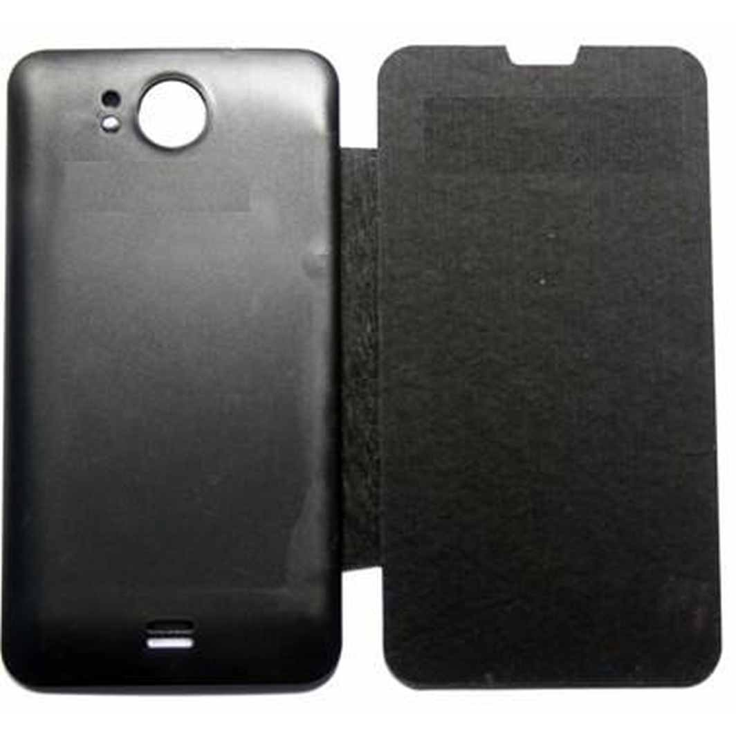 the best attitude 940f8 1d95d Flip Cover for Micromax A111 Canvas Doodle - Black