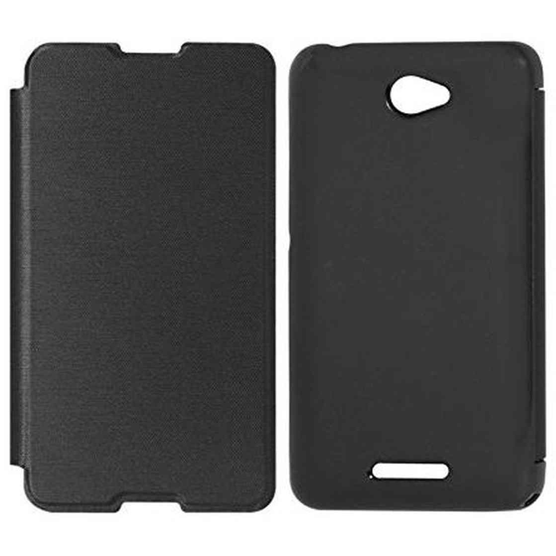 uk availability 3f641 9934a Flip Cover for Sony Xperia E4 Dual - Black