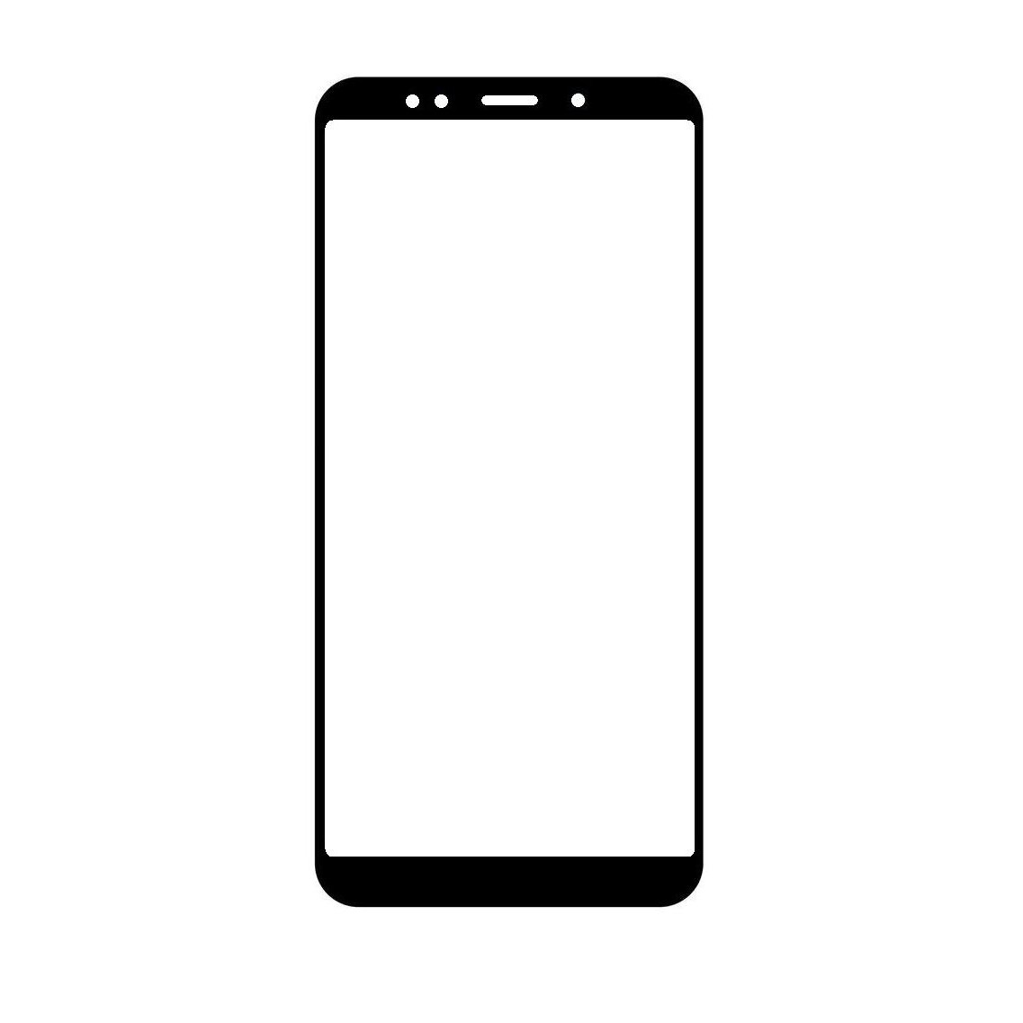 online store b453d 8ebda Front Glass for Xiaomi Redmi 5 Plus - Black
