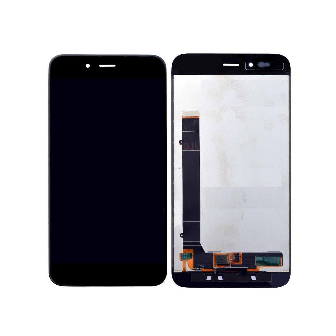 LCD with Touch Screen for Xiaomi Mi A1 - Black (display glass combo folder)