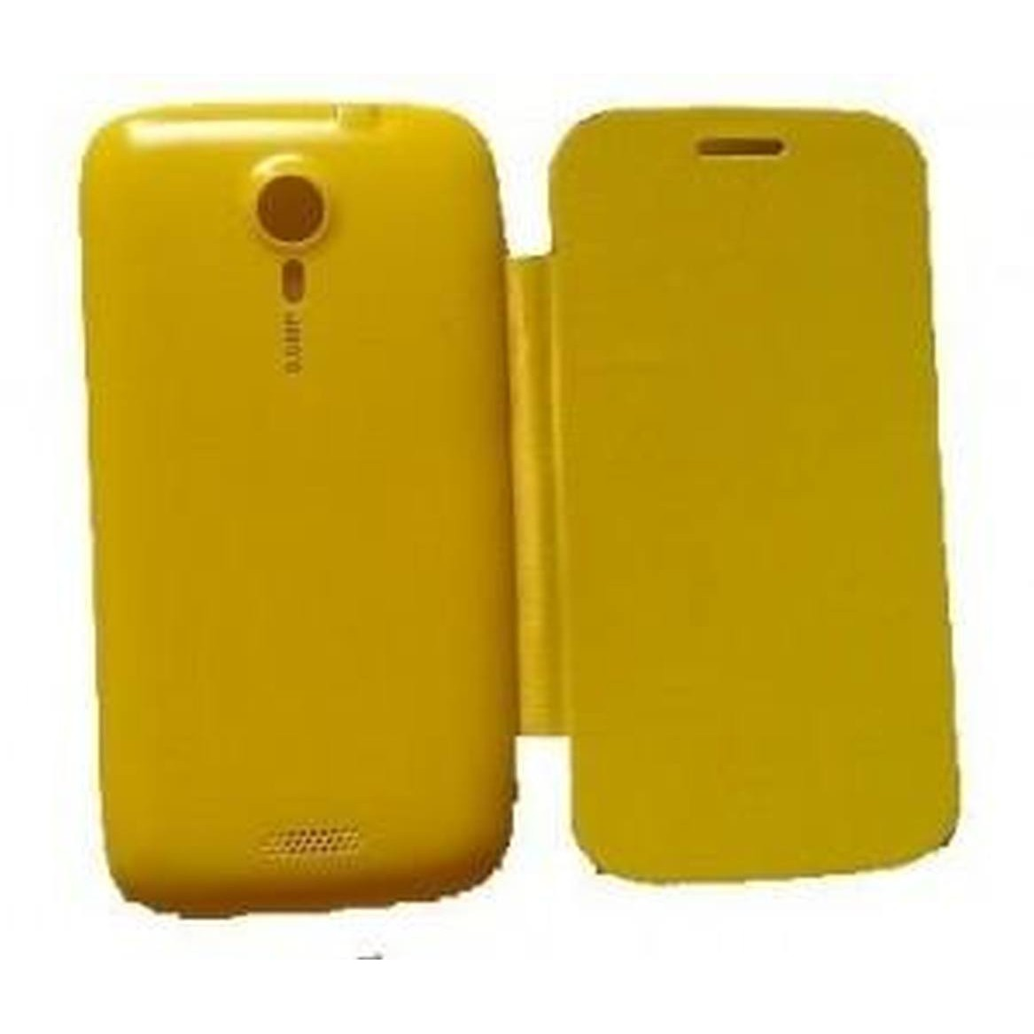 official photos 159b8 a8d3d Flip Cover for Micromax A116 Canvas HD - Yellow