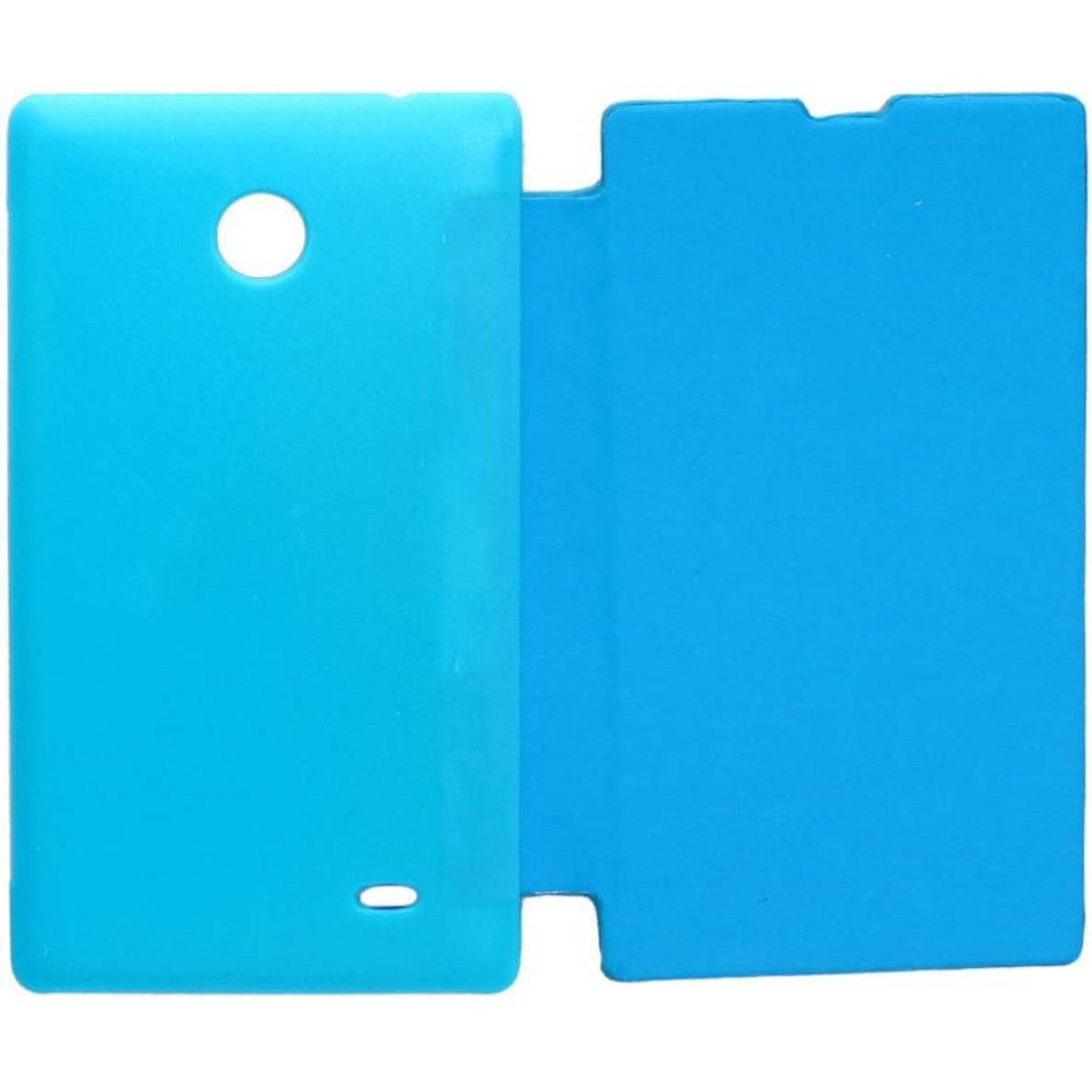 official photos 9c251 19036 Flip Cover for Nokia X plus Dual SIM - Cyan