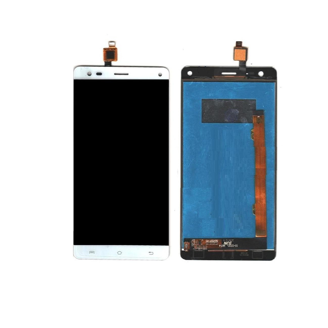 newest dd5b6 f8d33 LCD with Touch Screen for Lava Grand 2 - White (display glass combo folder)