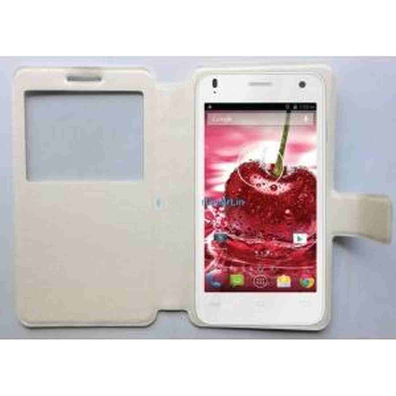 huge selection of 98321 7a287 Flip Cover for Lava Iris X1 Grand - White