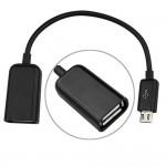 USB OTG Adapter Cable for Intex Aqua Power II
