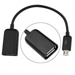 USB OTG Adapter Cable for Lenovo A3500-HV - Wi-Fi Plus 3G