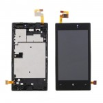 Lcd With Touch Screen For Nokia Lumia 520 White By - Maxbhi Com