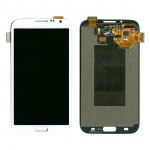 Lcd With Touch Screen For Samsung Galaxy Note Ii N7100 White By - Maxbhi Com