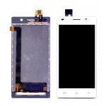Lcd With Touch Screen For Intex Aqua Power Plus White By - Maxbhi Com