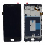 Lcd With Touch Screen For Oneplus 3 Black By - Maxbhi Com
