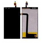Lcd With Touch Screen For Micromax Canvas Fire 4g Q411 Black By - Maxbhi Com
