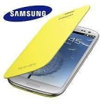 Flip Cover for Samsung Galaxy Note N7000 Yellow