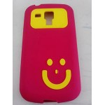 Smiley Back Case for Samsung Galaxy S Duos S7562 Red