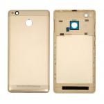 Back Panel Cover For Xiaomi Redmi 3s Prime Gold - Maxbhi Com