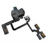 Audio Jack Flex Cable For Apple iPhone 4, 4G With Power Switch and Volume Button Black