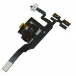 Audio Jack Flex Cable For Apple iPhone 4S With Power Button Black