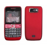 Full Body Faceplate For Nokia E63 Red - Maxbhi.com
