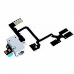 Volume Button Flex Cable For Apple iPhone 4, 4G With Audio Jack White