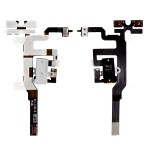 Volume Button Flex Cable For Apple Iphone 4s With Audio Jack White - Maxbhi Com