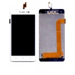 Lcd With Touch Screen For Lava Z60 White By - Maxbhi Com
