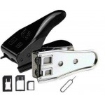Dual Sim Cutter For Apple iPad 4 With Adapter Black