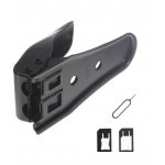 Dual Sim Cutter For Apple iPhone 4   With 2 Adaptors And Sim Ejector Pin