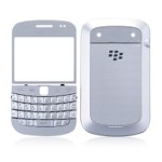 Front & Back Panel For BlackBerry Bold Touch 9900 - Silver