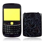 Front & Back Panel For BlackBerry Curve 8520 - Black