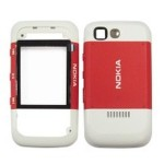 Front & Back Panel For Nokia 5300 - Red