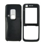 Front & Back Panel For Nokia 6120 classic - Black