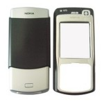 Front & Back Panel For Nokia N70 - Black