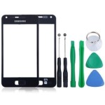 Front Glass Lens For Samsung I9070 Galaxy S Advance - Black