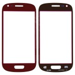 Replacement Front Glass For Samsung I8190 Galaxy S3 Mini Red By - Maxbhi Com