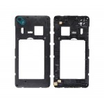 Lcd Frame Middle Chassis For Wiko Sunny2 Plus Black By - Maxbhi Com