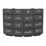 Keypad For Nokia X302 Touch And Type Grey - Maxbhi Com