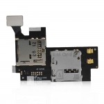 SIM Card Connector for Samsung N7100 Note 2 (memory card connector with Flex Cable)