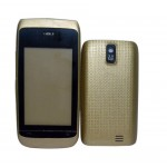 Full Body Housing For Nokia Asha 308 Dual Sim Gold Light - Maxbhi Com