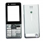 Full Body Housing For Sony Ericsson J105 Naite Greenheart Silver - Maxbhi Com