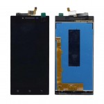 Lcd With Touch Screen For Lenovo P70 Black By - Maxbhi Com