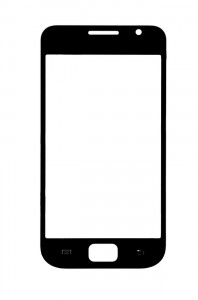 Replacement Front Glass For Samsung I9000 Galaxy S Black By - Maxbhi.com