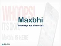 How to make new order on Maxbhi.com Step 1