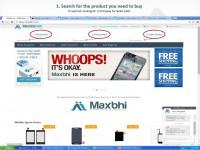 How to make new order on Maxbhi.com Step 2