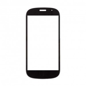 Replacement Front Glass For Yota Yotaphone 2 Black By - Maxbhi.com
