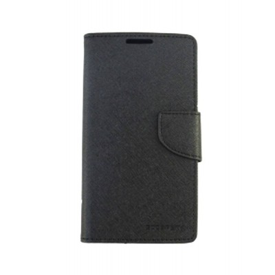 Flip Cover for Intex Aqua Y4 - Black