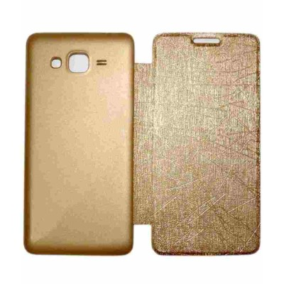 Flip Cover for Samsung Galaxy Grand Prime 4G - Gold