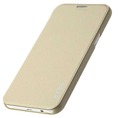 Flip Cover for Samsung Galaxy J5 - Gold