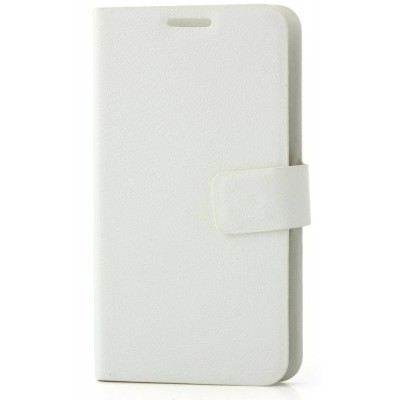 Flip Cover for Intex Aqua Y4 - White